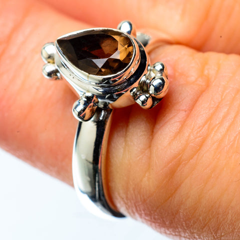 Smoky Quartz Rings handcrafted by Ana Silver Co - RING25152