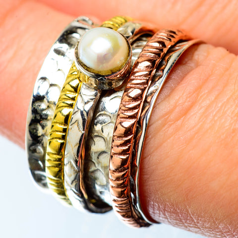 Cultured Pearl Copper Rings handcrafted by Ana Silver Co - RING25162