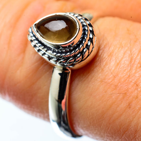 Smoky Quartz Rings handcrafted by Ana Silver Co - RING25240