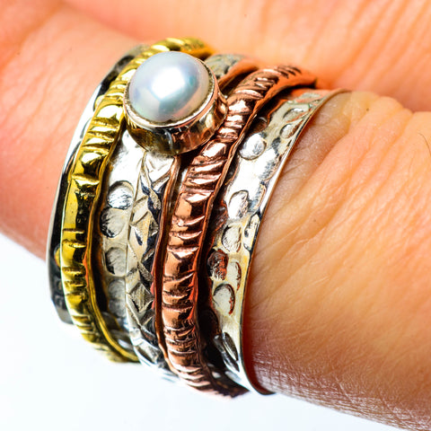 Cultured Pearl Copper Rings handcrafted by Ana Silver Co - RING25250