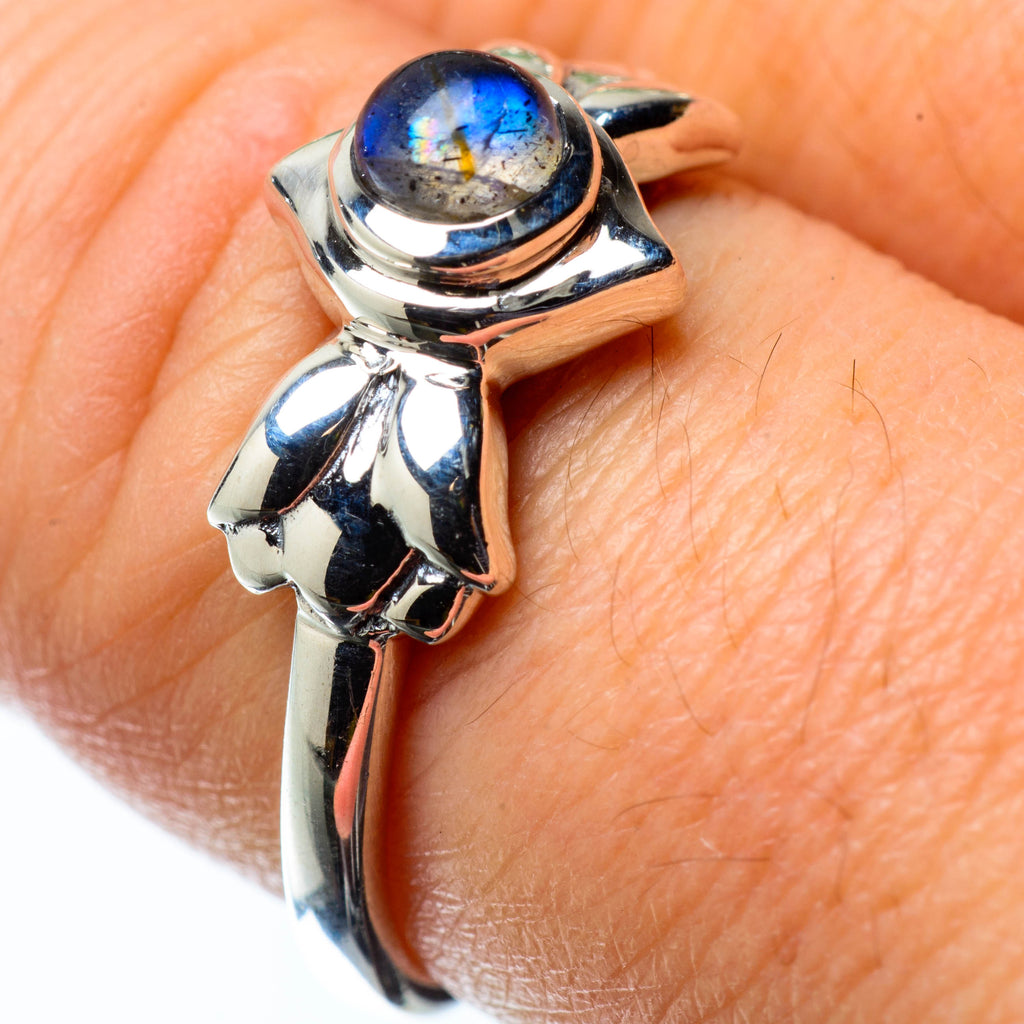 Labradorite Rings handcrafted by Ana Silver Co - RING25263