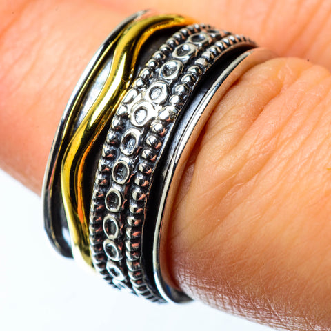 Meditation Spinner Rings handcrafted by Ana Silver Co - RING25282
