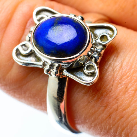 Lapis Lazuli Rings handcrafted by Ana Silver Co - RING25292