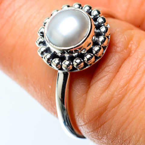 Cultured Pearl Rings handcrafted by Ana Silver Co - RING25387