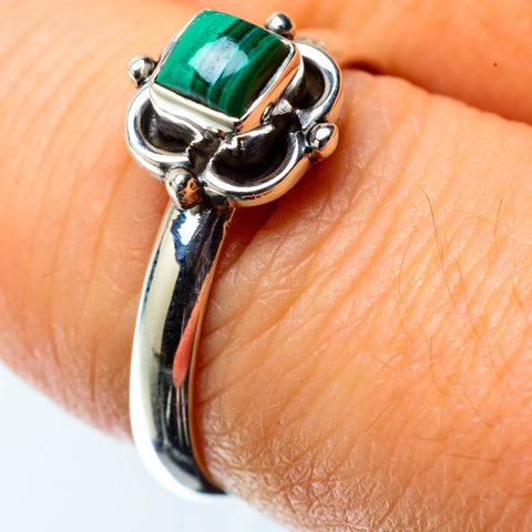 Malachite Rings handcrafted by Ana Silver Co - RING25405