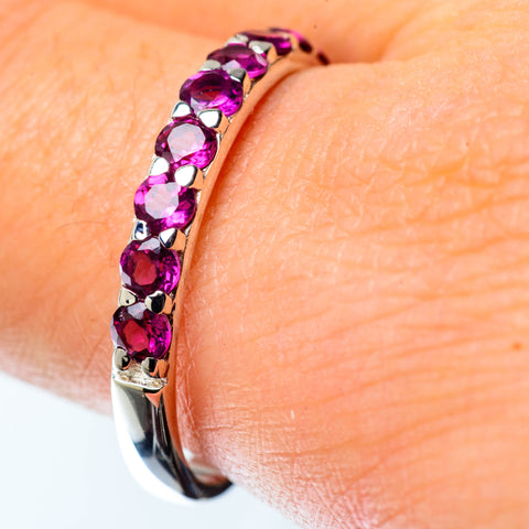 Pink Tourmaline Rings handcrafted by Ana Silver Co - RING25418