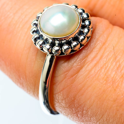 Cultured Pearl Rings handcrafted by Ana Silver Co - RING25439