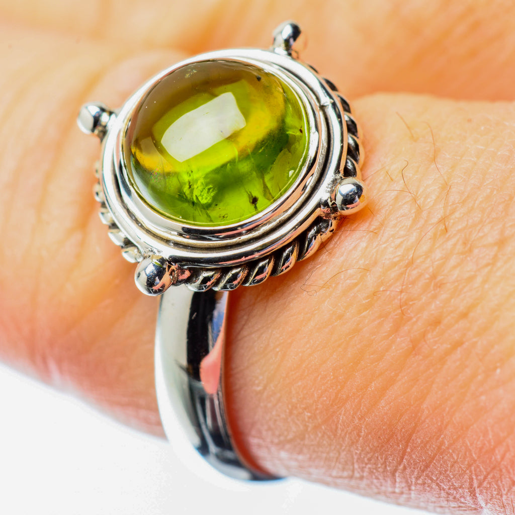 Peridot Rings handcrafted by Ana Silver Co - RING25491