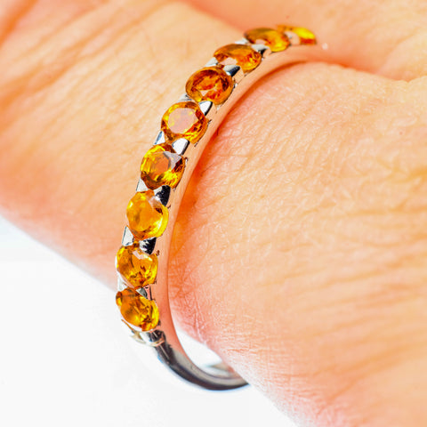 Citrine Rings handcrafted by Ana Silver Co - RING25527