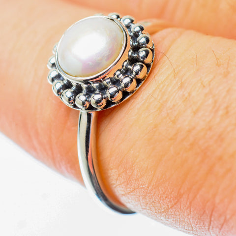 Cultured Pearl Rings handcrafted by Ana Silver Co - RING25578