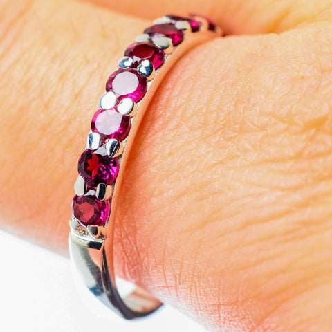 Pink Tourmaline Rings handcrafted by Ana Silver Co - RING25598