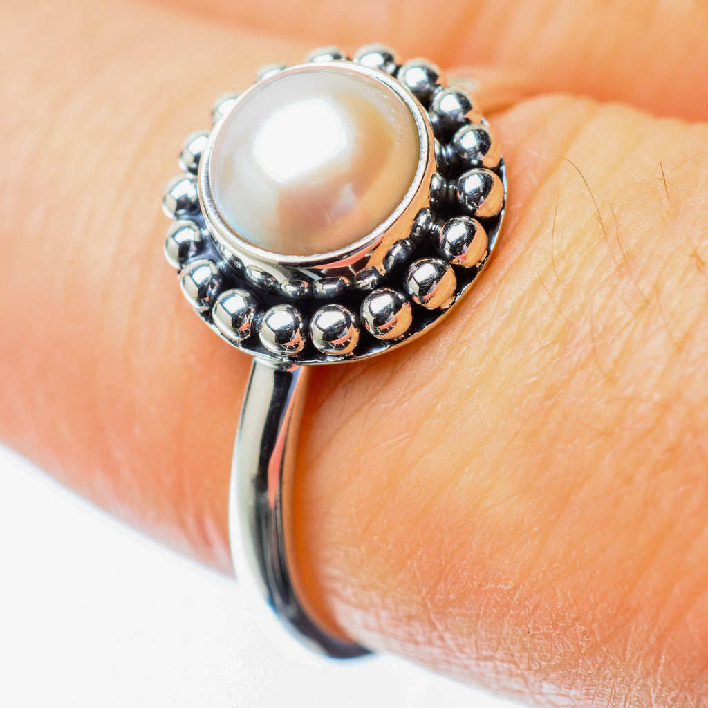 Cultured Pearl Rings handcrafted by Ana Silver Co - RING25613
