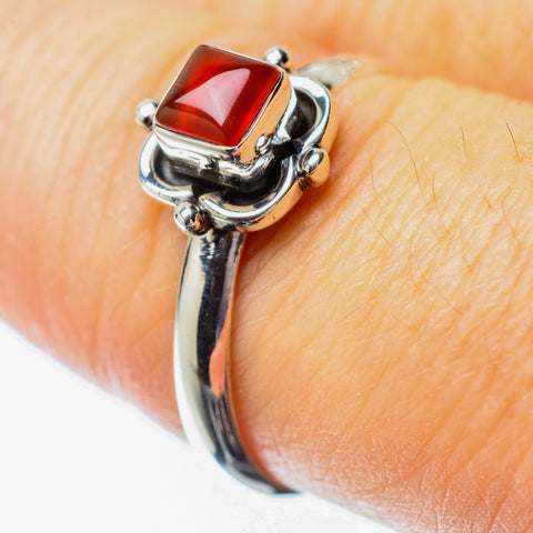 Red Onyx Rings handcrafted by Ana Silver Co - RING25631