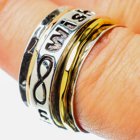 Meditation Spinner Rings handcrafted by Ana Silver Co - RING25721