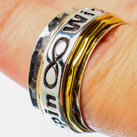 Meditation Spinner Rings handcrafted by Ana Silver Co - RING25758