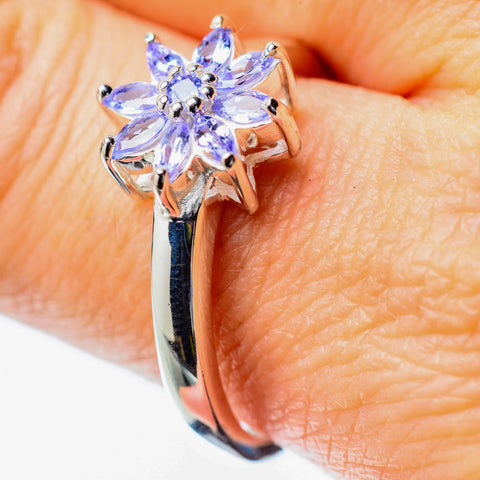 Tanzanite Rings handcrafted by Ana Silver Co - RING25789