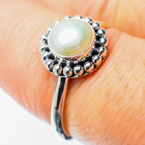 Cultured Pearl Rings handcrafted by Ana Silver Co - RING25798