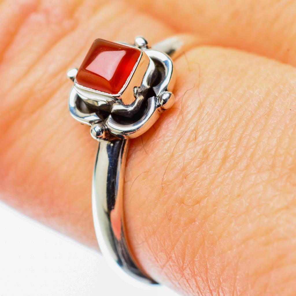 Red Onyx Rings handcrafted by Ana Silver Co - RING25845