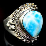 Larimar Rings handcrafted by Ana Silver Co - RING2603