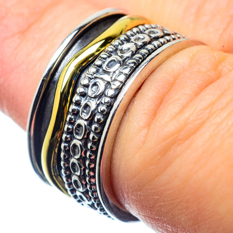 Meditation Spinner Rings handcrafted by Ana Silver Co - RING26056