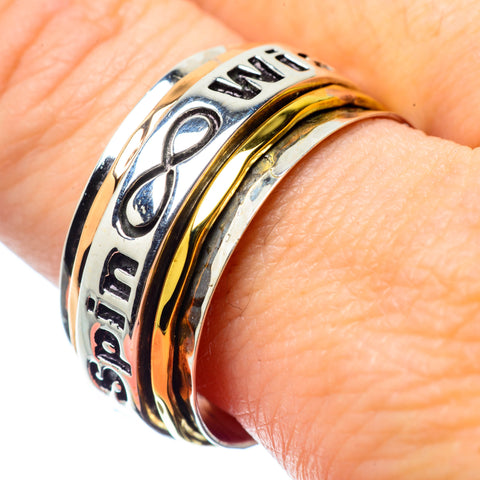 Meditation Spinner Rings handcrafted by Ana Silver Co - RING26086
