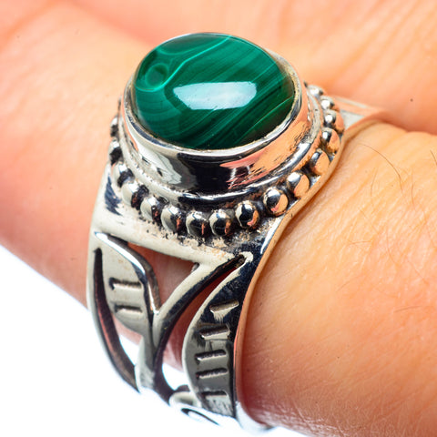 Malachite Rings handcrafted by Ana Silver Co - RING26103