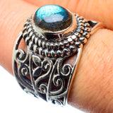 Labradorite Rings handcrafted by Ana Silver Co - RING26238