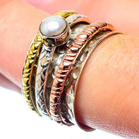Cultured Pearl Rings handcrafted by Ana Silver Co - RING26438