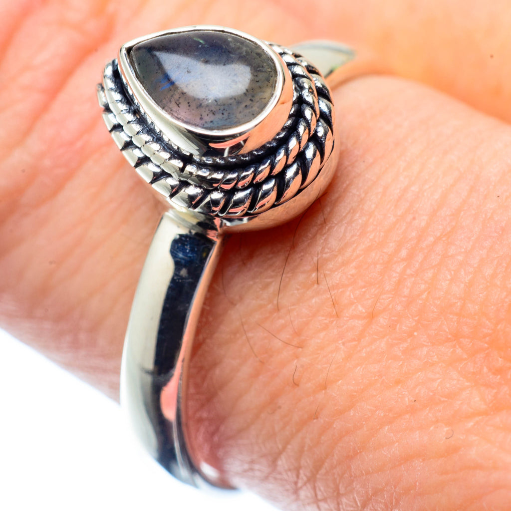 Labradorite Rings handcrafted by Ana Silver Co - RING26893
