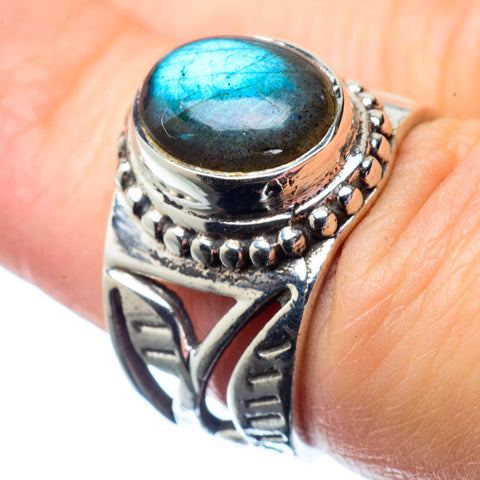 Labradorite Rings handcrafted by Ana Silver Co - RING26945