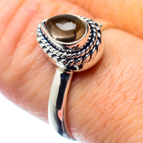 Smoky Quartz Rings handcrafted by Ana Silver Co - RING26953