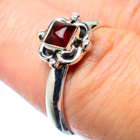 Garnet Rings handcrafted by Ana Silver Co - RING27000