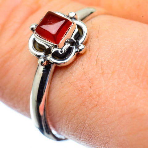 Red Onyx Rings handcrafted by Ana Silver Co - RING27175