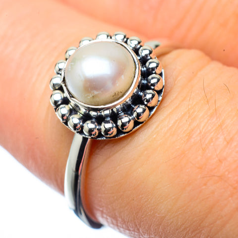 Cultured Pearl Rings handcrafted by Ana Silver Co - RING27189