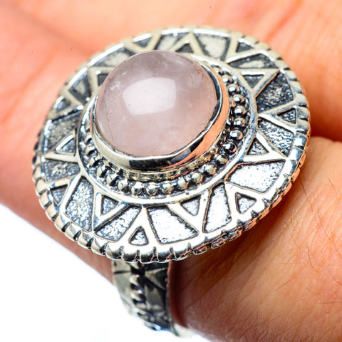 Rose Quartz Rings handcrafted by Ana Silver Co - RING27395