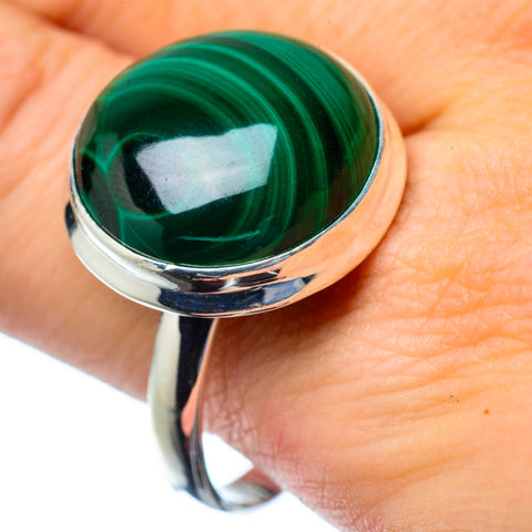 Malachite Rings handcrafted by Ana Silver Co - RING27432