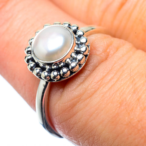 Cultured Pearl Rings handcrafted by Ana Silver Co - RING27588