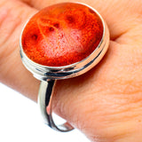 Sponge Coral Rings handcrafted by Ana Silver Co - RING27773