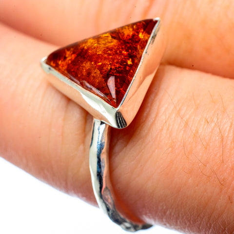 Baltic Amber Rings handcrafted by Ana Silver Co - RING28008