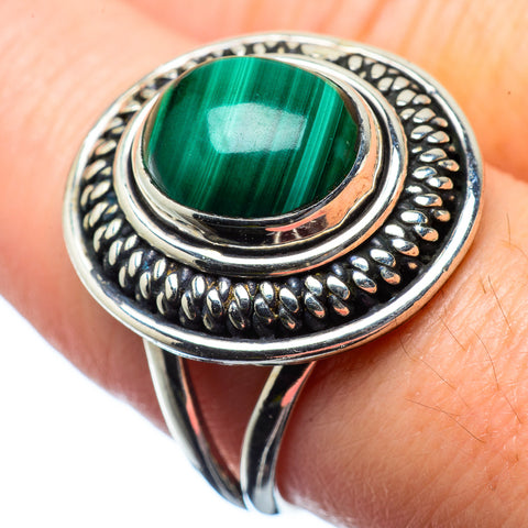 Malachite Rings handcrafted by Ana Silver Co - RING28389