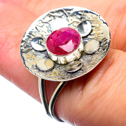 Red Sillimanite Rings handcrafted by Ana Silver Co - RING28472
