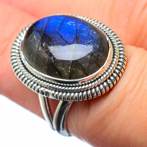 Labradorite Rings handcrafted by Ana Silver Co - RING28577