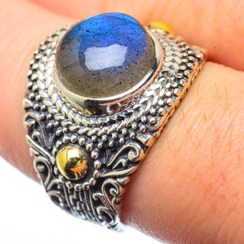 Labradorite Rings handcrafted by Ana Silver Co - RING28636