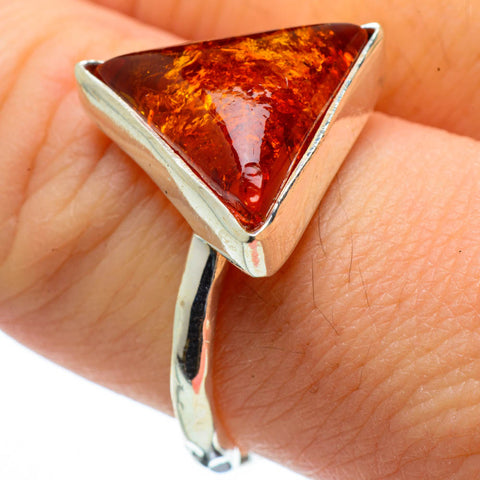 Baltic Amber Rings handcrafted by Ana Silver Co - RING28945