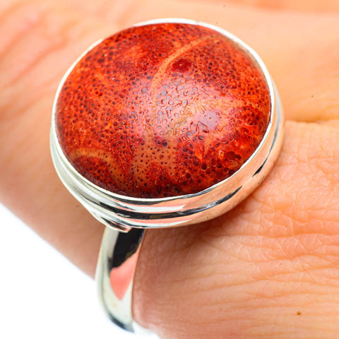 Sponge Coral Rings handcrafted by Ana Silver Co - RING29159