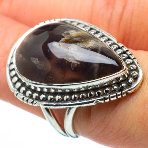 Turkish Tube Agate Rings handcrafted by Ana Silver Co - RING29830