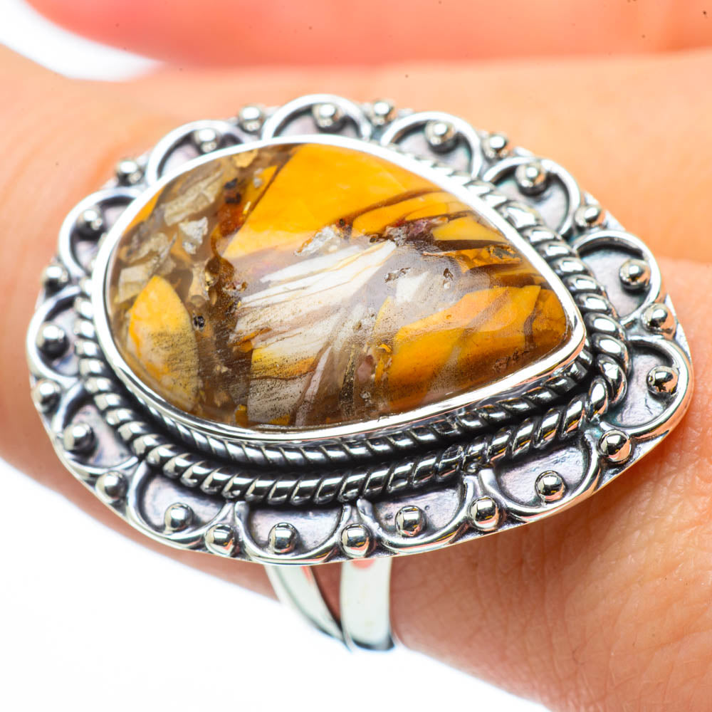 Brecciated Mookaite Rings handcrafted by Ana Silver Co - RING29877
