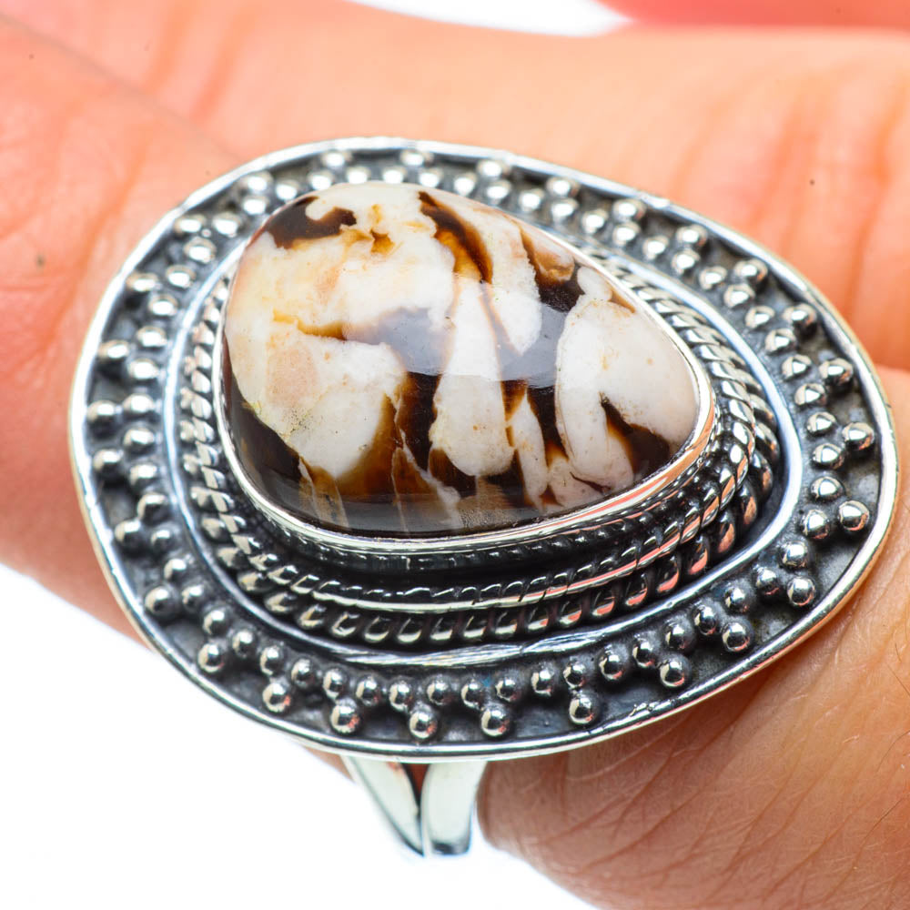 Peanut Wood Jasper Rings handcrafted by Ana Silver Co - RING30281