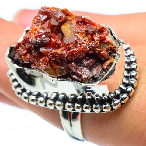 Vanadinite Rings handcrafted by Ana Silver Co - RING30369