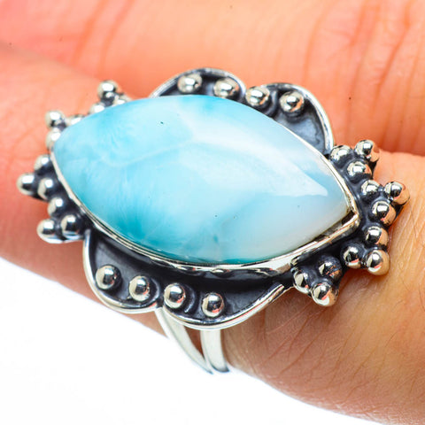 Larimar Rings handcrafted by Ana Silver Co - RING30395